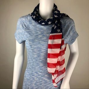 Patriotic Stars and Stripes Scarf